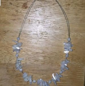 "PUKA SHELLS & STERLING 16"" NECKLACE LOBSTER CLASP"